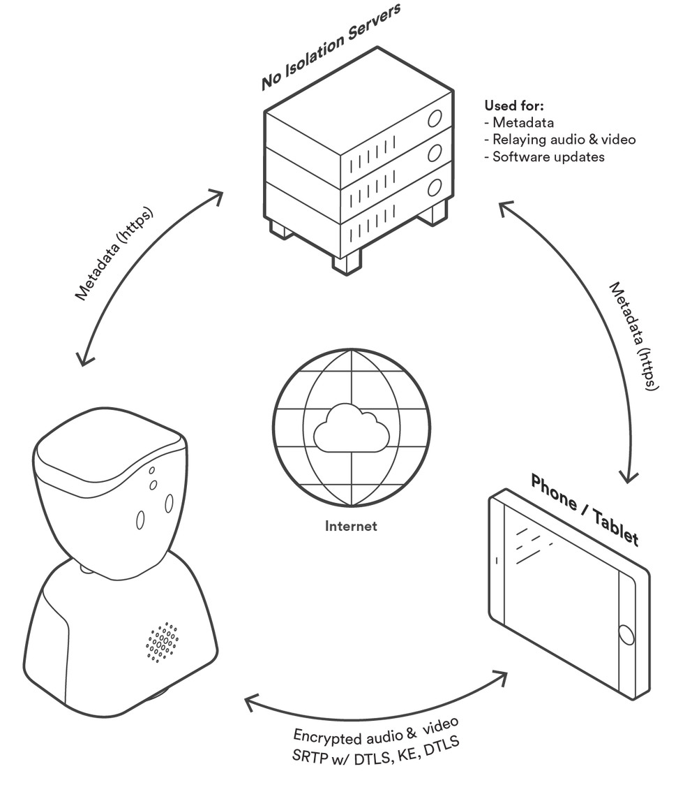 Diagram to show AV1 privacy features